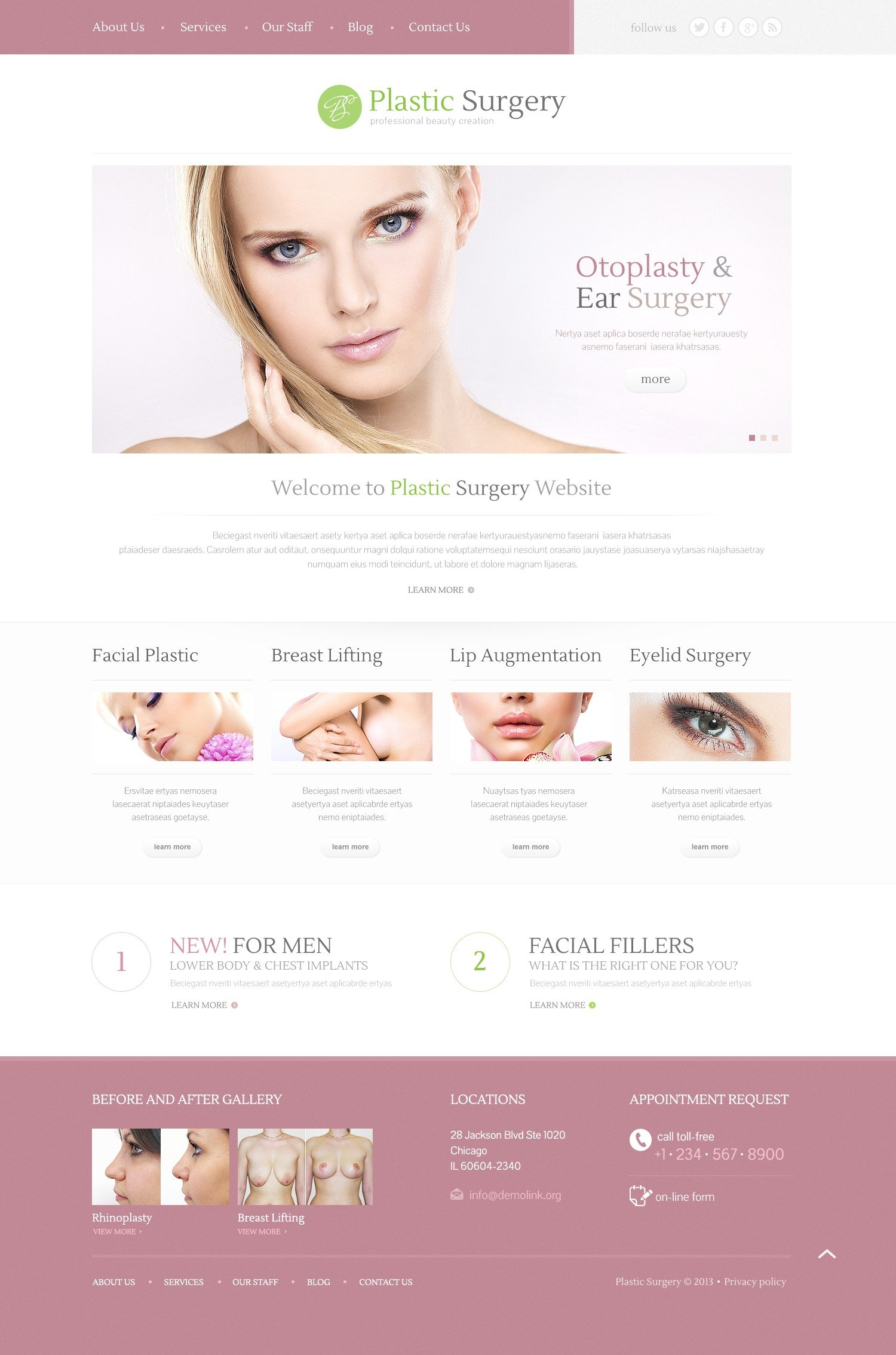 plastic surgery wordpress theme  plastic surgery wordpress theme
