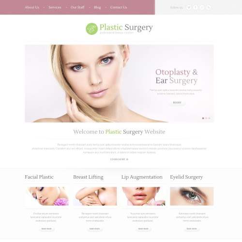 Plastic Surgery - WordPress Template based on Bootstrap