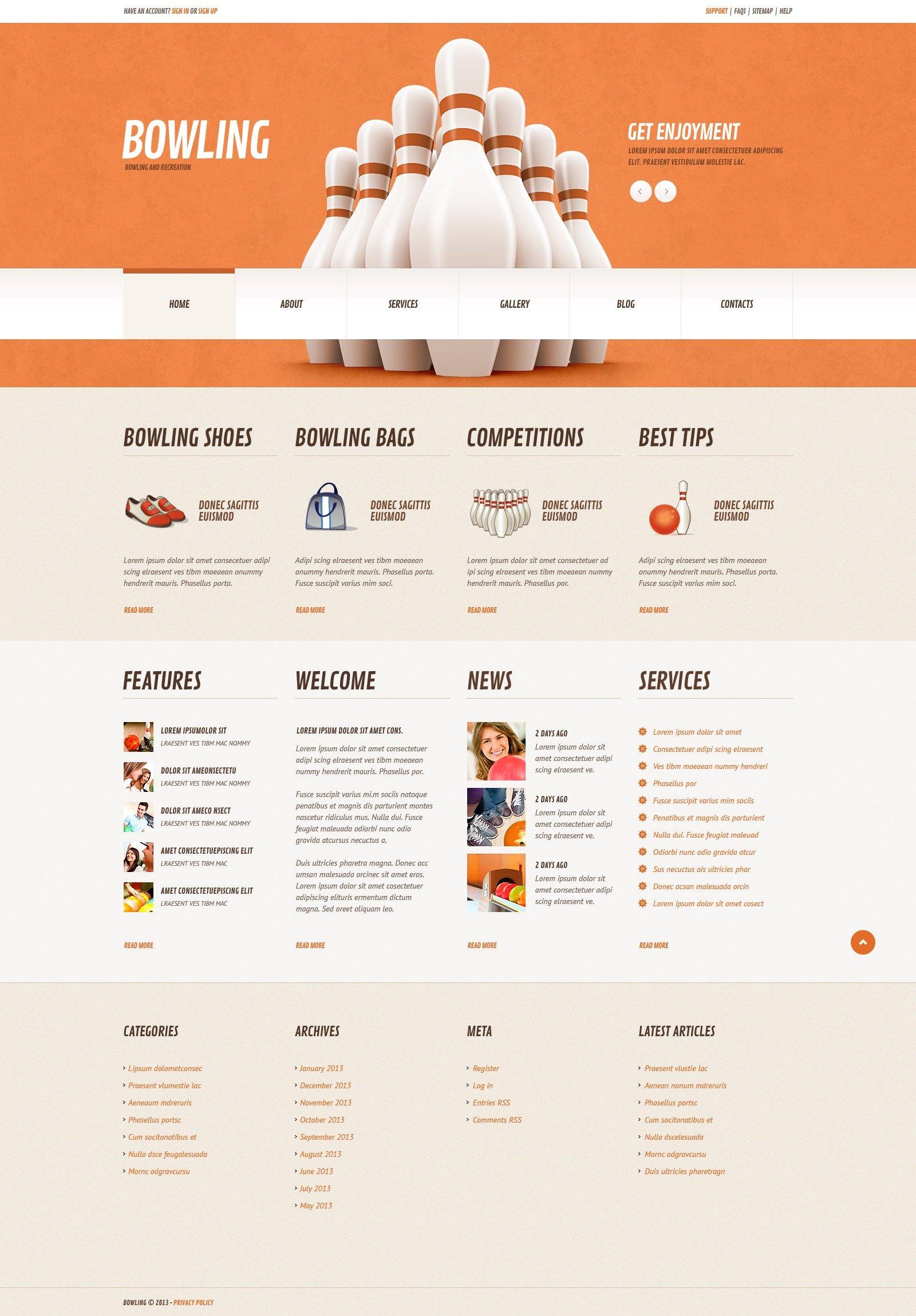 Tema De WordPress Responsive para Sitio de Bolo americano #44760 - captura de pantalla