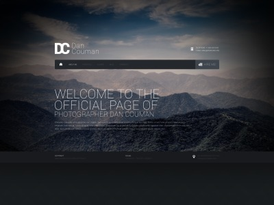 Bootstrap template Web №44753 para Sites de Portfólio de Fotografo