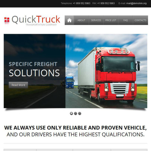 Quick Truck - Facebook HTML CMS Template