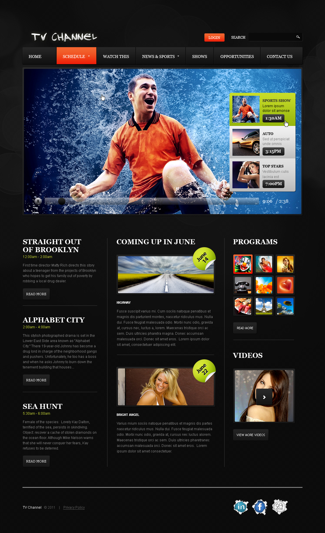 TV Channel Templates | TemplateMonster