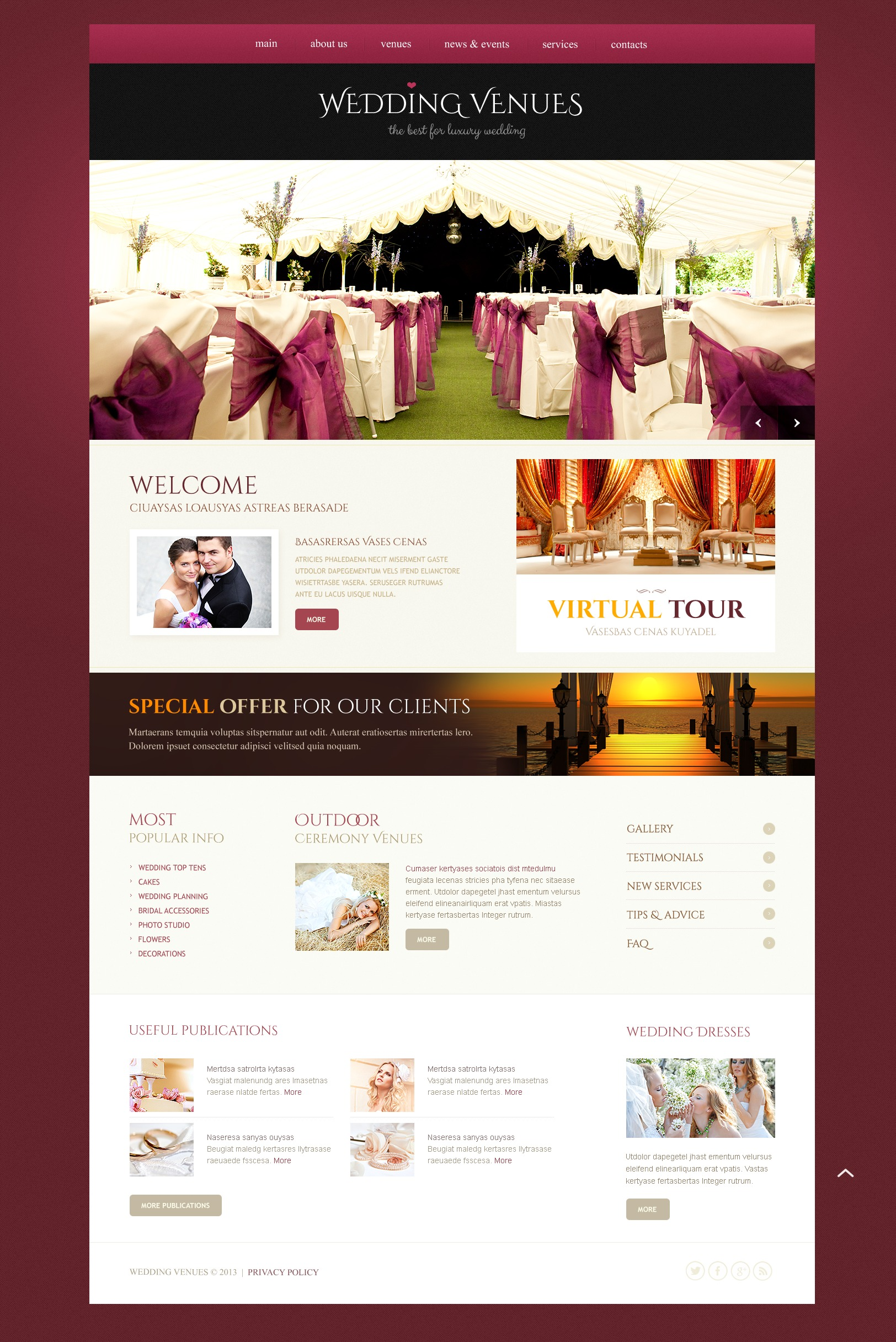 Responsive Wedding Website Templates