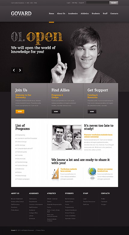 ADOBE Photoshop Template 44803 Home Page Screenshot