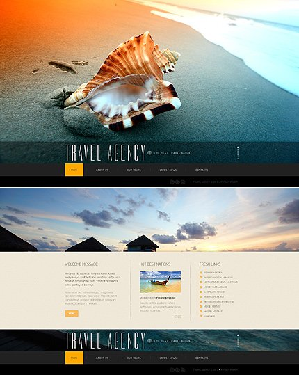 ADOBE Photoshop Template 44804 Home Page Screenshot