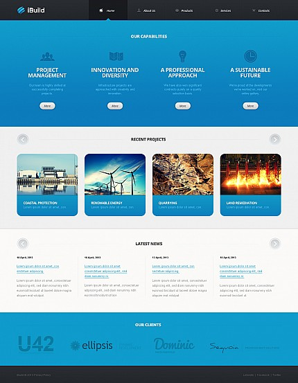 ADOBE Photoshop Template 44809 Home Page Screenshot