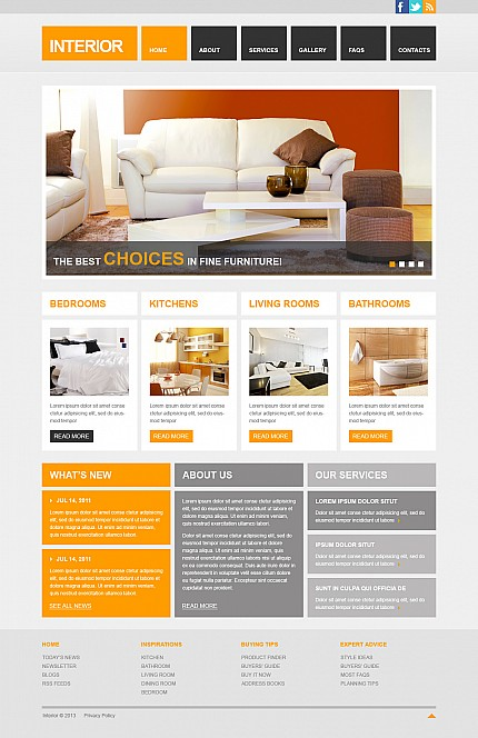 ADOBE Photoshop Template 44811 Home Page Screenshot