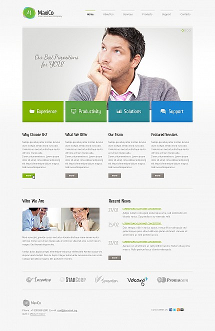 ADOBE Photoshop Template 44812 Home Page Screenshot