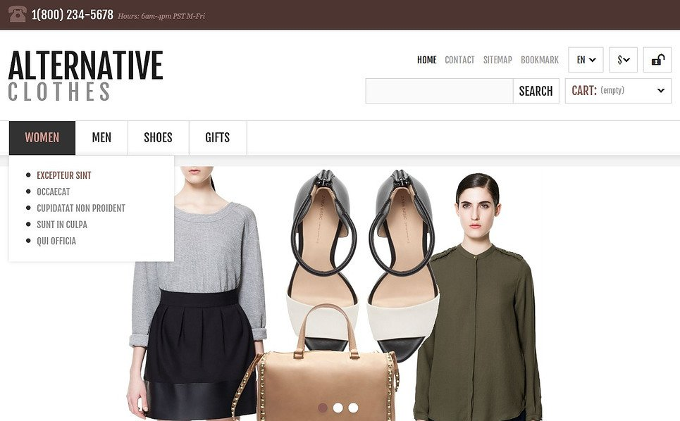Tema De PrestaShop Responsive para Sitio de Ropa New Screenshots BIG