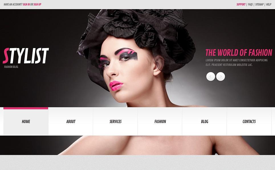 Responzivní WordPress motiv na téma Modelingová agentura New Screenshots BIG