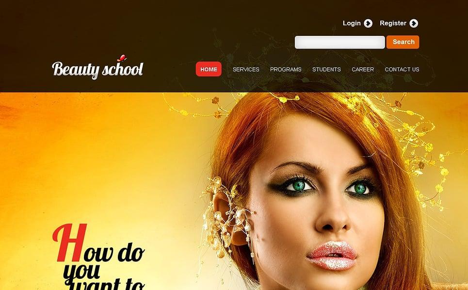 Template Siti Web Bootstrap #44824 per Un Sito di Scuola di Bellezza New Screenshots BIG