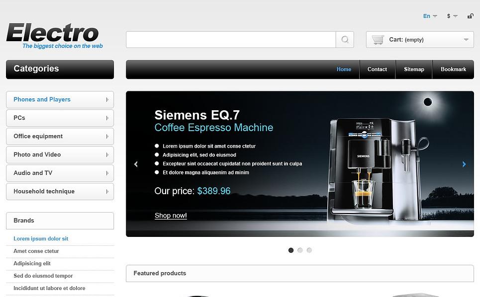 Responzivní PrestaShop motiv na téma Prodejna elektroniky New Screenshots BIG