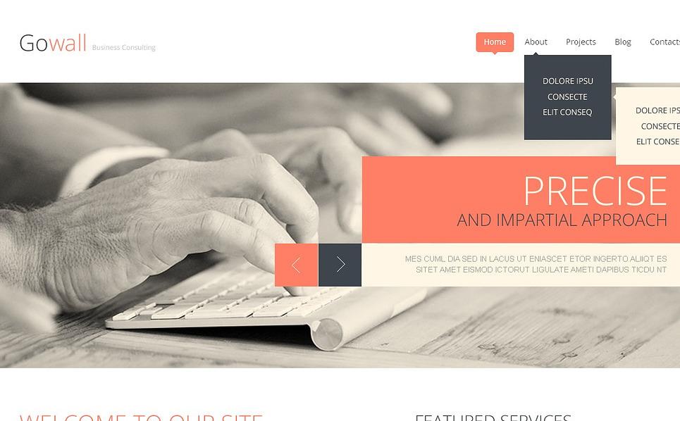 Responsive Danışmanlık  Web Sitesi Şablonu New Screenshots BIG