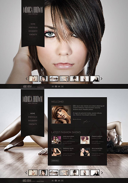 ADOBE Photoshop Template 44848 Home Page Screenshot