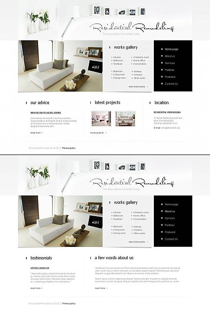 ADOBE Photoshop Template 44851 Home Page Screenshot