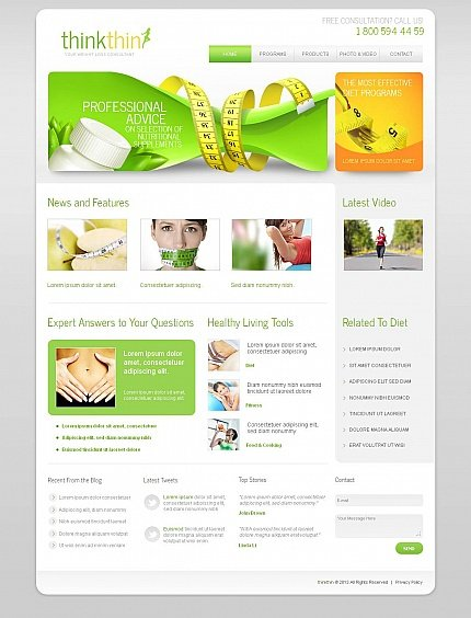 ADOBE Photoshop Template 44855 Home Page Screenshot