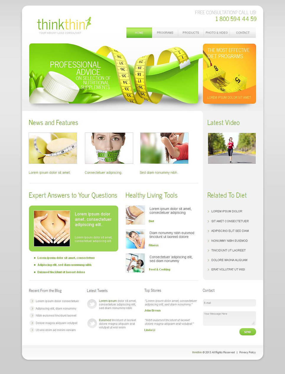 Weight Loss Template with Photo and Video Galleries - image