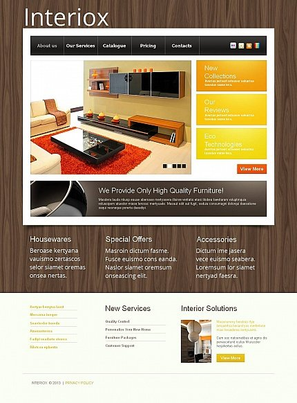 ADOBE Photoshop Template 44856 Home Page Screenshot
