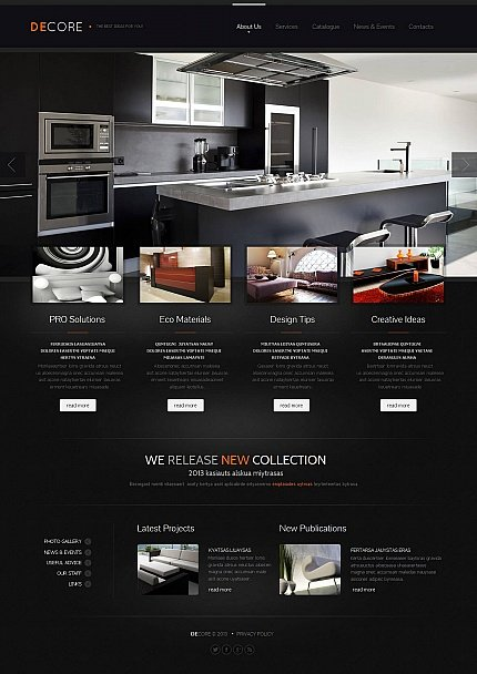 ADOBE Photoshop Template 44858 Home Page Screenshot