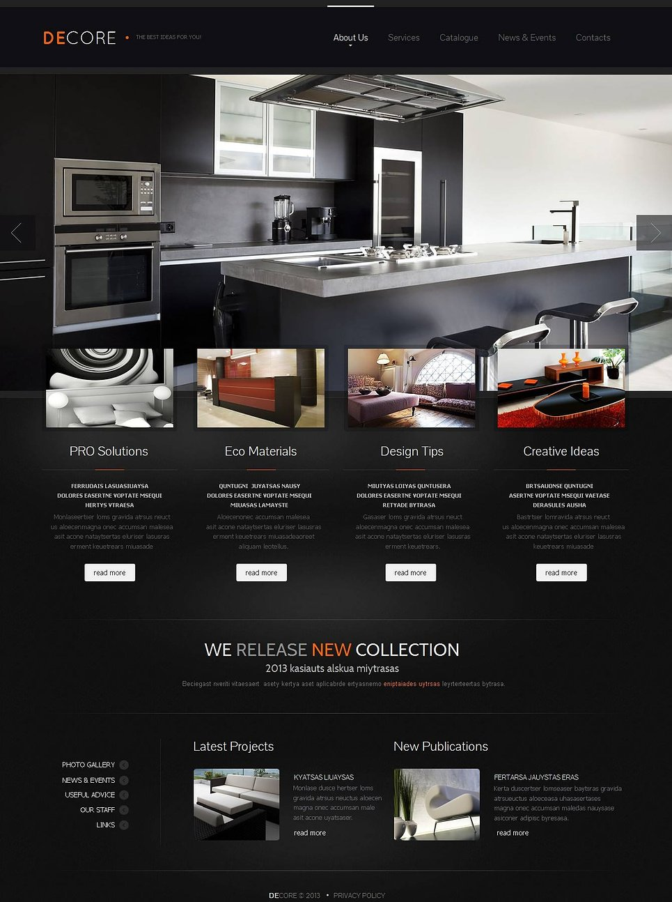 Absolutely Black Home Decor Website Template - image
