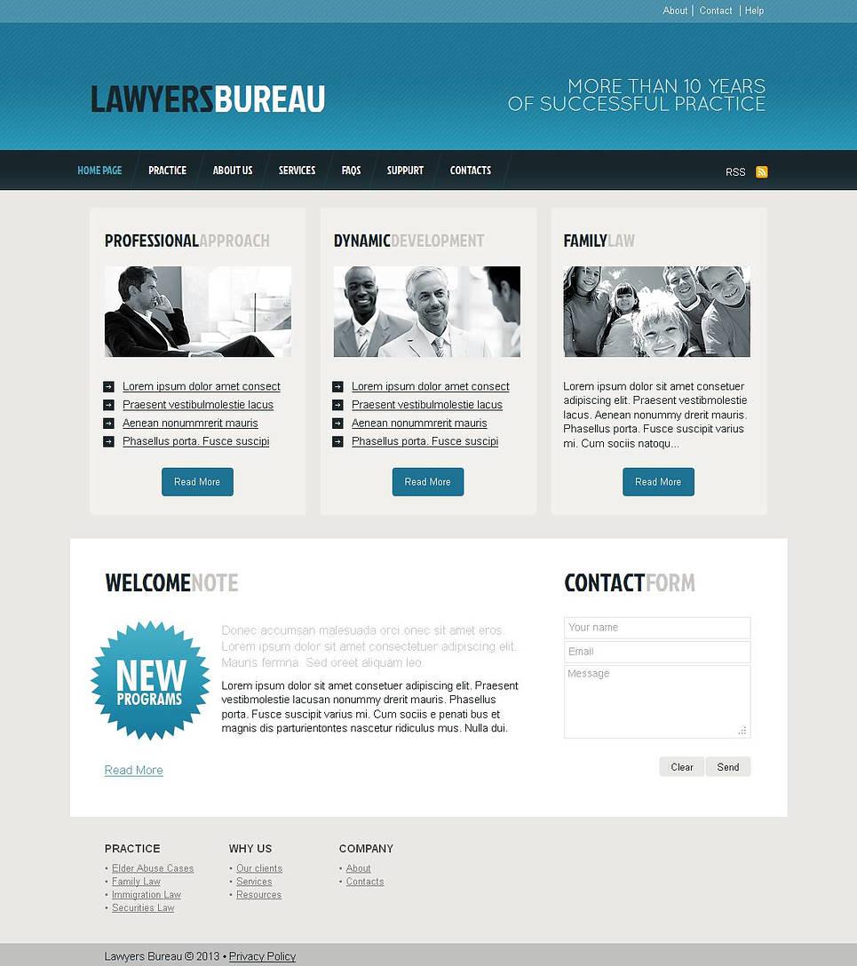 Lawyer Bureau Website Template with CMS - image