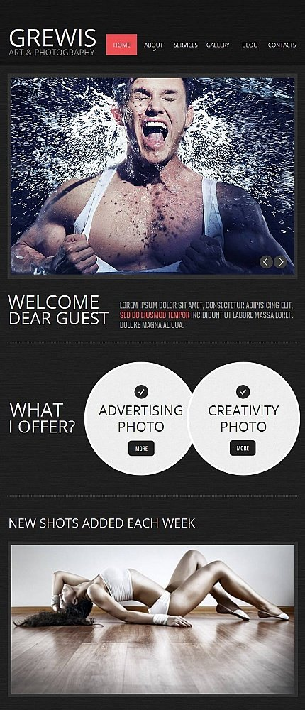 ADOBE Photoshop Template 44869 Home Page Screenshot