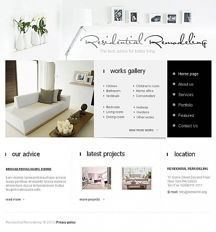ADOBE Photoshop Template 44871 Home Page Screenshot