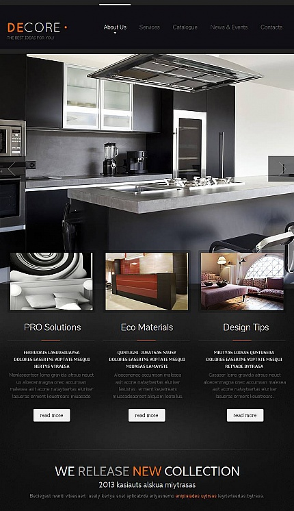 ADOBE Photoshop Template 44877 Home Page Screenshot