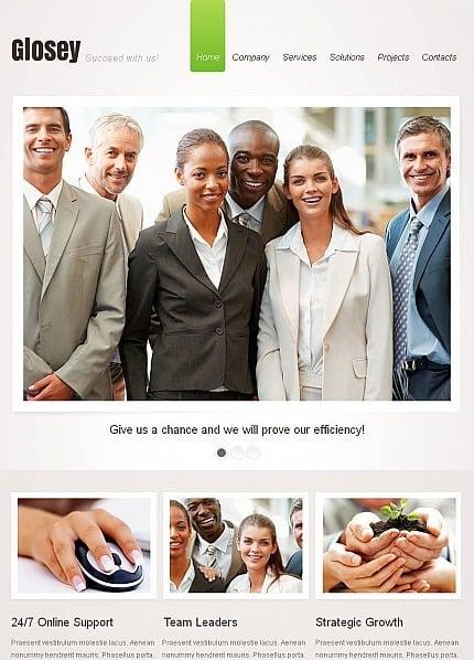 Facebook HTML CMS Vorlage für Marketing-Agentur  Facebook Screenshot