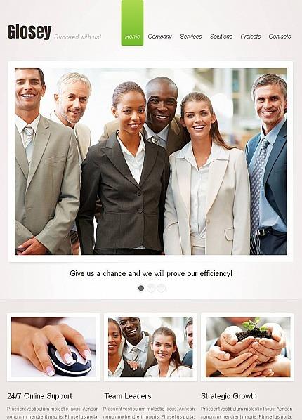 Premium Facebook HTML CMS Template over Marketingbureau Facebook Screenshot