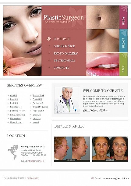 ADOBE Photoshop Template 44885 Home Page Screenshot