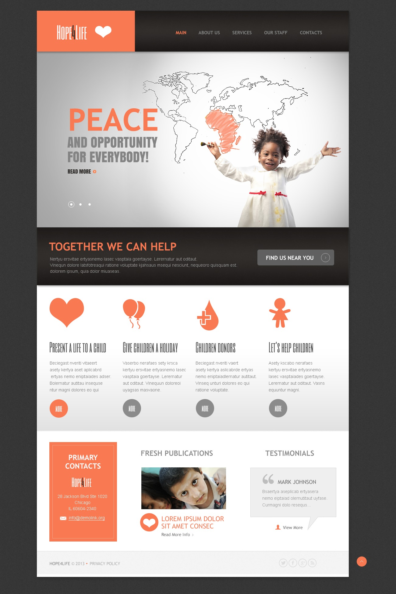charity drupal themes