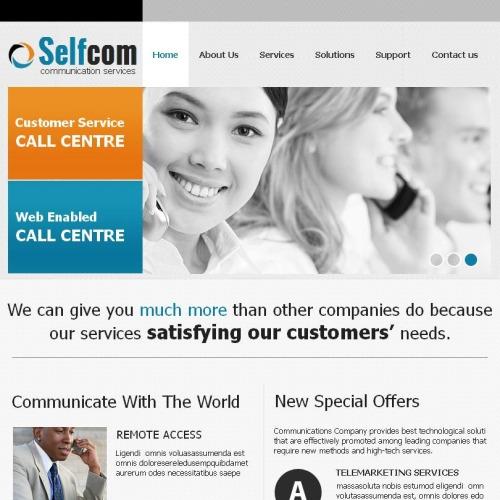 Self Com - Facebook HTML CMS Template
