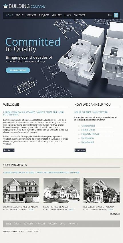Construction Company Facebook HTML CMS Template Facebook Screenshot