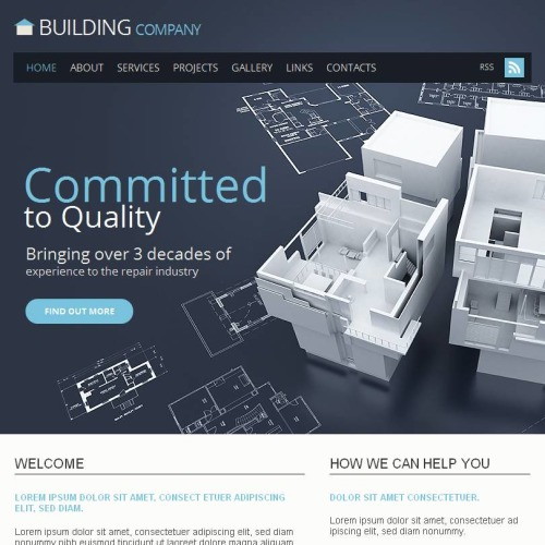 Committed To Quality - Facebook HTML CMS Template