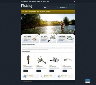 Fishing Expert ZenCart Template #44846