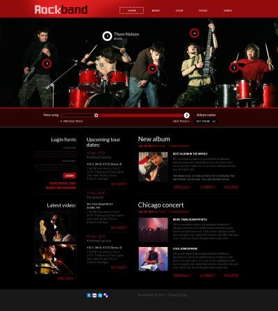 Music Band Flash CMS шаблон