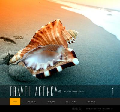 Flash CMS шаблоны №44804 на тему агентство путешествий