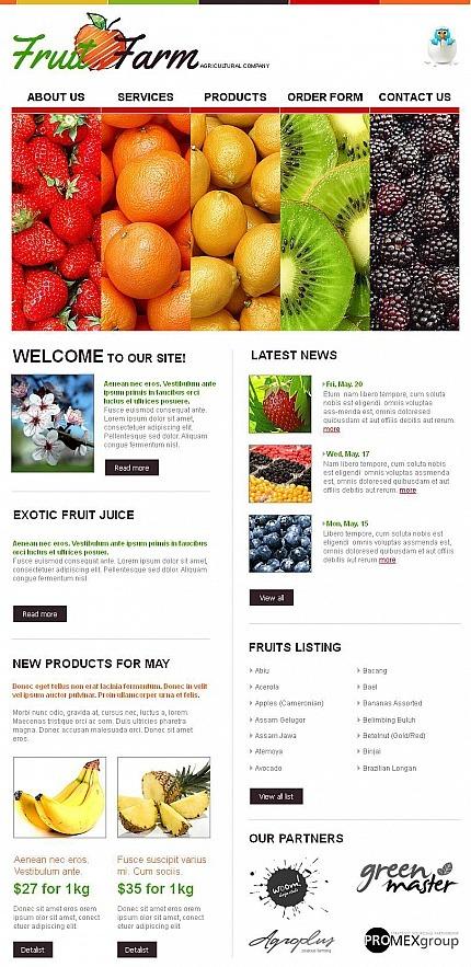 Fruit Facebook HTML CMS Template Facebook Screenshot