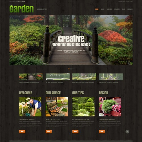 Garden Design - WordPress Template based on Bootstrap