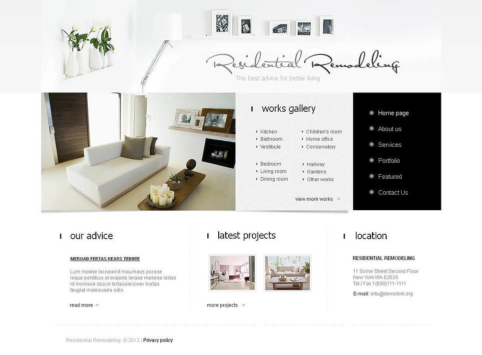 Home Remodeling Moto CMS HTML Template New Screenshots BIG