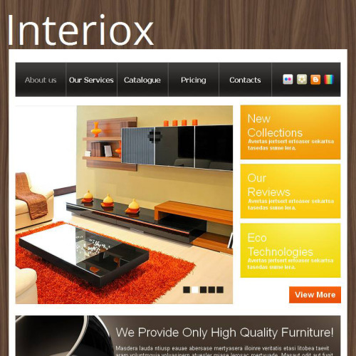 Interiox - Facebook HTML CMS Template