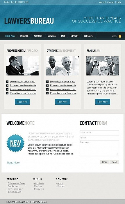 Lawyer Facebook HTML CMS Template Facebook Screenshot
