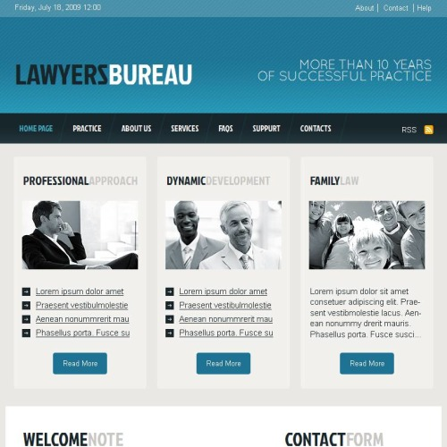 Lawyer Bureau - Facebook HTML CMS Template