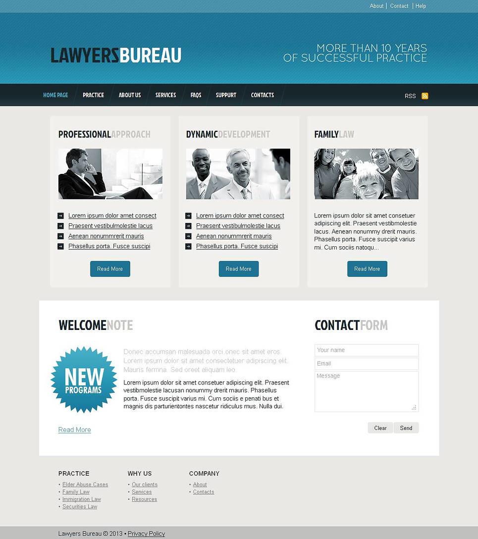 Lawyer Moto CMS HTML Template New Screenshots BIG