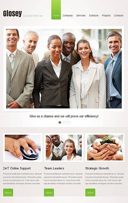 Marketing Agency Facebook HTML CMS Template Facebook Screenshot