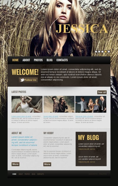 Personal Page Tema Moto CMS HTML