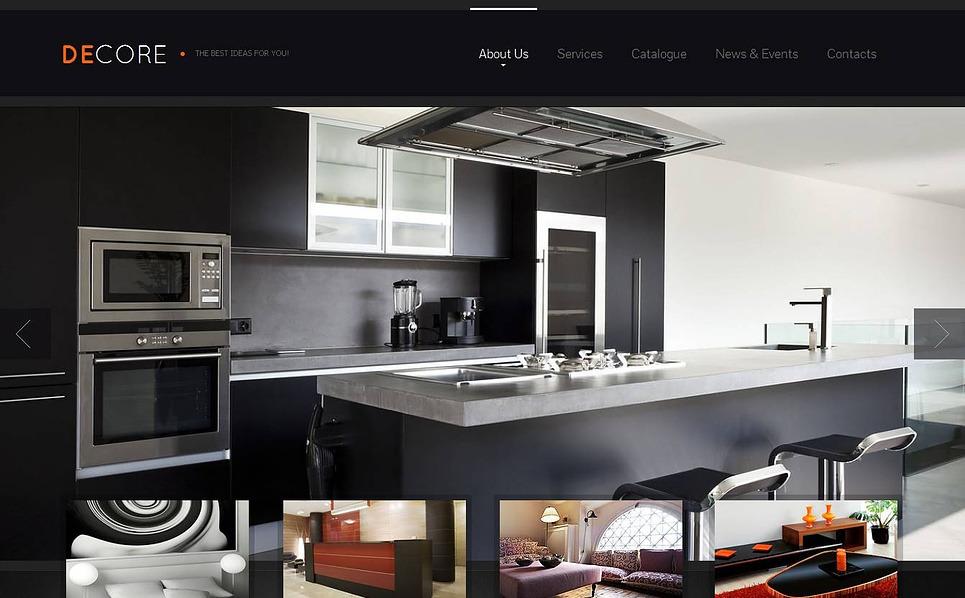 MotoCMS HTML шаблон на тему внутрішній дизайн New Screenshots BIG
