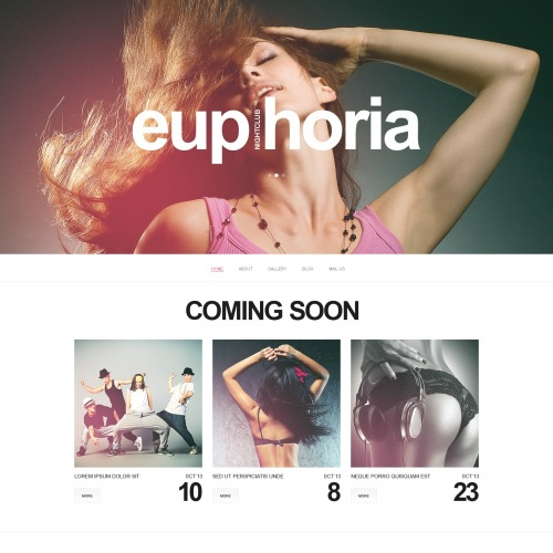 Euphoria - Website Template based on Bootstrap