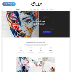 Business listing website templates template monster olly advertising agency multipage html5 high quality business website template accmission Gallery